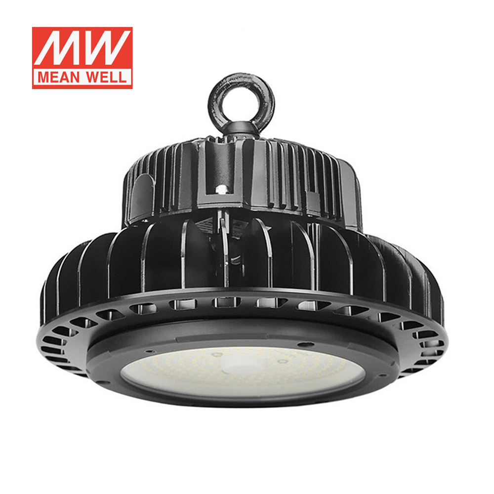 Campana industrial UFO HB 150W, ChipLed Samsung + MeanWell driver 1-10V regulable, Blanco frío, Regulable